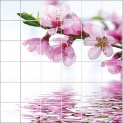 Stickers carrelage mural Fleurs