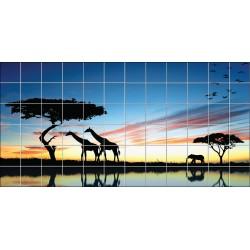 Stickers carrelage mural Savane