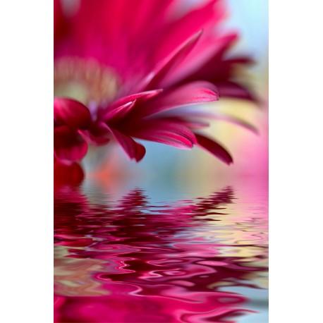 Sticker frigo frigidaire Fleur reflet - ou Magnet frigo
