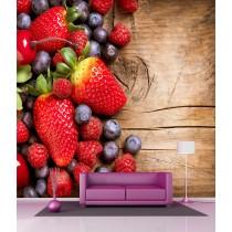 Stickers géant déco : Fruits rouge