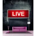 Stickers géant déco : Live