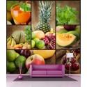 Stickers géant déco : Cocktail de fruits