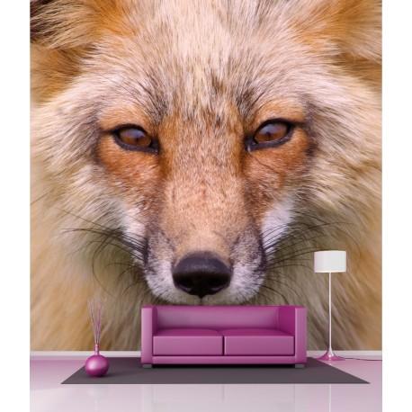 Stickers géant déco : Loup blanc