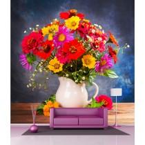 Stickers géant déco : Pot de Fleurs