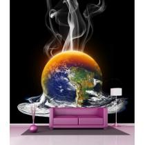 Stickers géant déco : Terre en feu