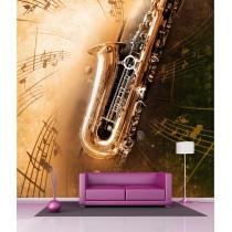 Stickers géant déco : Saxophone