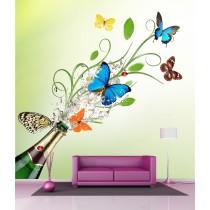 Stickers géant déco : Papillons