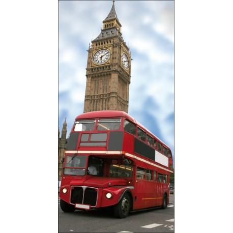 Sticker mural Trompe l'oeil Bus Londonien