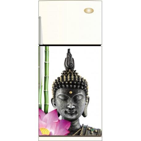 Sticker frigo Bouddha Bambou - ou Magnet frigo