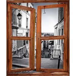 Stickers fenêtre trompe l'oeil Ruelle Paris
