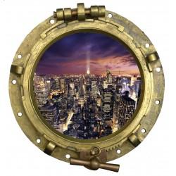 Sticker Hublot vue sur new York
