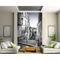 Sticker mural géant Ruelle Noir & Blanc