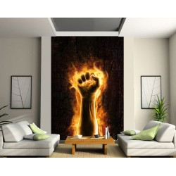 Sticker mural géant Bras en feu