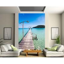 Sticker mural géant Ponton sur La mer