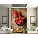 Sticker mural géant Les fraises