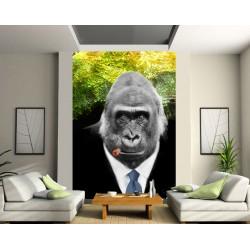 Sticker mural géant Gorille Fumeur