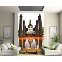 Sticker mural géant Temple buddha