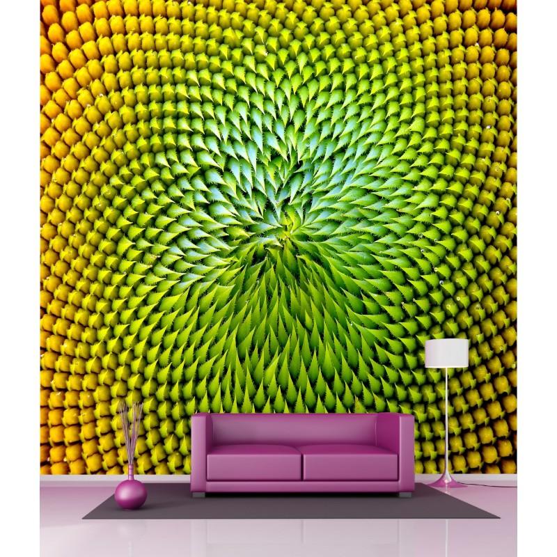 papier peint g ant deco feuilles 250x250cm art d co stickers. Black Bedroom Furniture Sets. Home Design Ideas