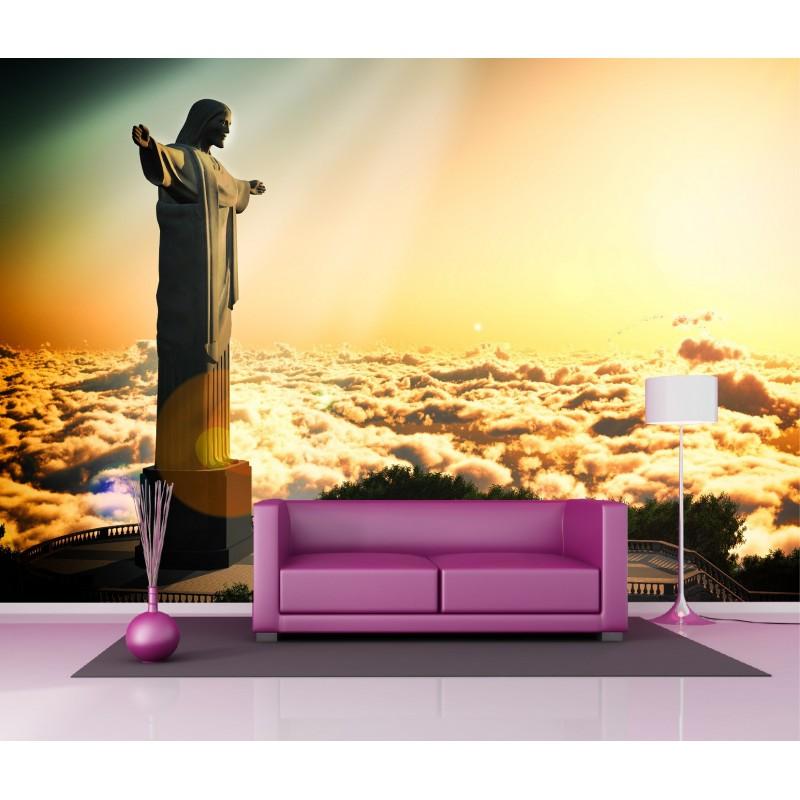 papier peint g ant d co rio de janeiro 250x360cm art d co stickers. Black Bedroom Furniture Sets. Home Design Ideas