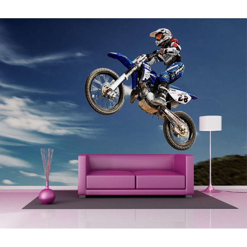 papier peint g ant d co moto cross 250x360cm art d co stickers. Black Bedroom Furniture Sets. Home Design Ideas