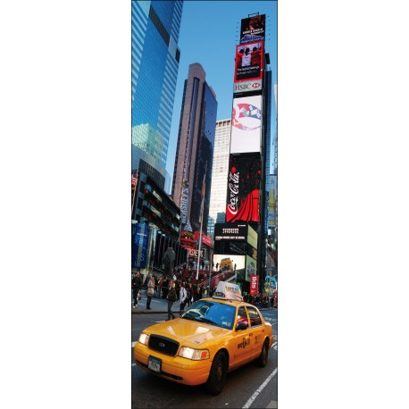 Sticker pour porte plane New York Taxi
