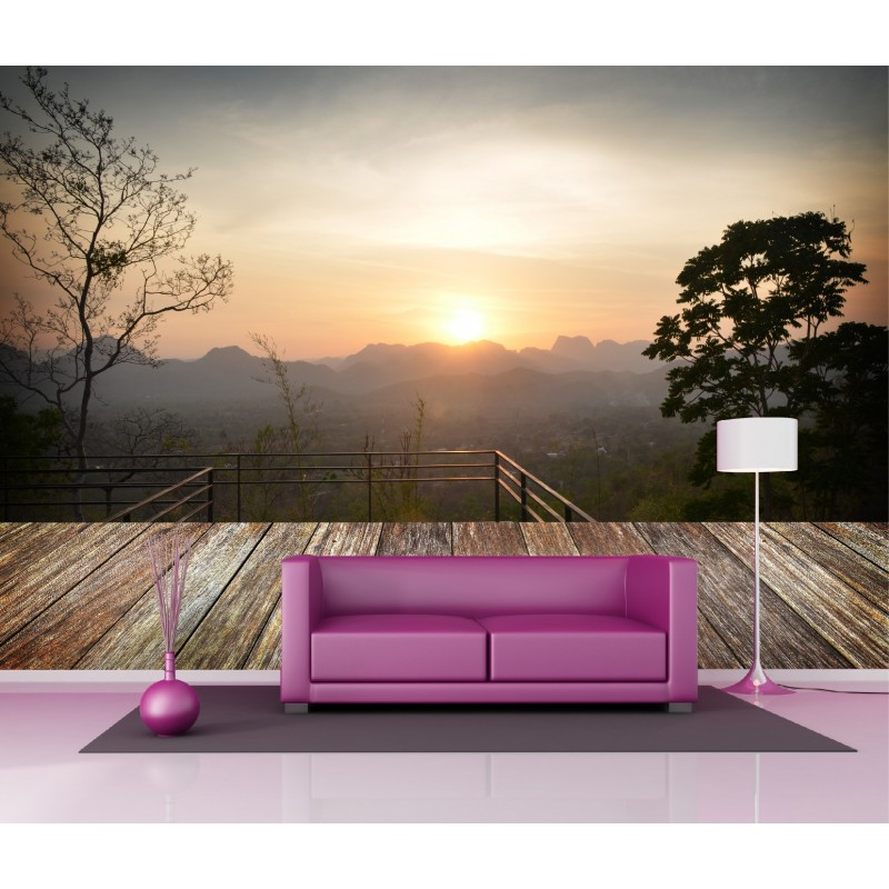papier peint g ant d co paysage en montagne 250x360cm art d co stickers. Black Bedroom Furniture Sets. Home Design Ideas