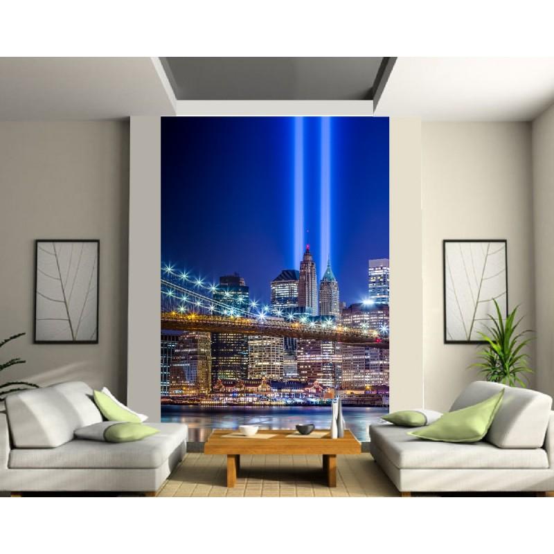 papier peint grande largeur london bridge la nuit art d co stickers. Black Bedroom Furniture Sets. Home Design Ideas