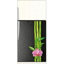 Sticker frigo Orchidée Bambous - ou Magnet frigo