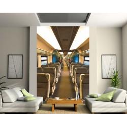 Papier peint grande largeur interieur du train art d co - Papier peint grande largeur ...