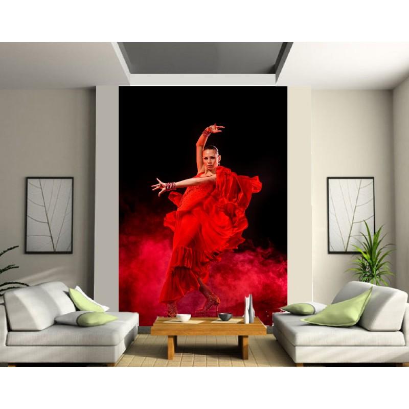 Papier Peint Grande Largeur Danseuse Flamenco Art Déco Stickers