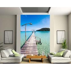 papier peint grande largeur ponton art d co stickers. Black Bedroom Furniture Sets. Home Design Ideas