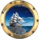 sticker Hublot Bateau voilier