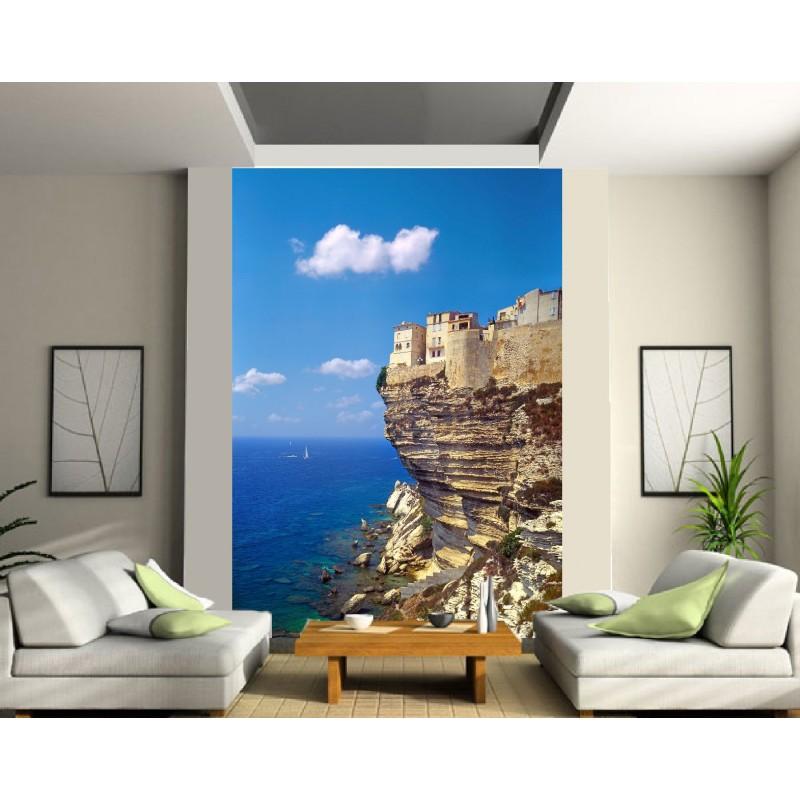 papier peint g ant maison sur la falaise art d co stickers. Black Bedroom Furniture Sets. Home Design Ideas