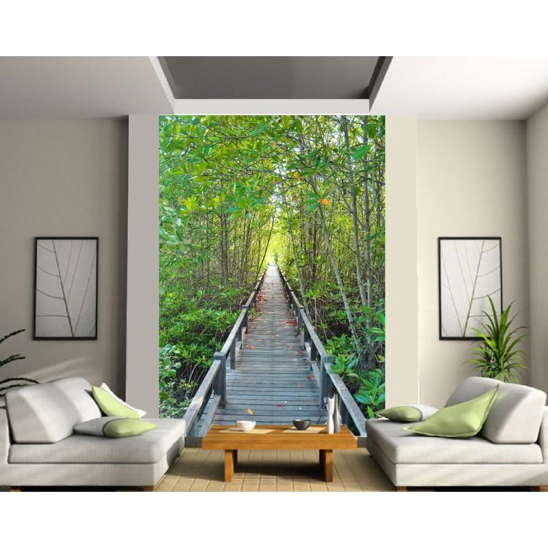 papier peint g ant passage dans la nature art d co stickers. Black Bedroom Furniture Sets. Home Design Ideas