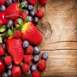 Stickers muraux déco : Fruits rouges