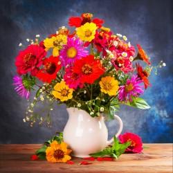 Stickers muraux déco : pot de fleurs