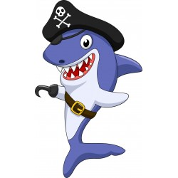 Stickers enfant Requin Pirate