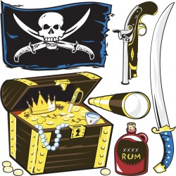 Stickers kit enfant planche de stickers Pirate