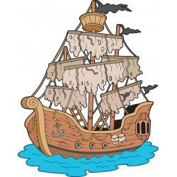 Stickers enfant Bateau pirate
