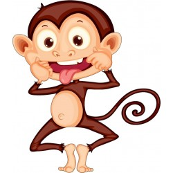Stickers enfant Singe
