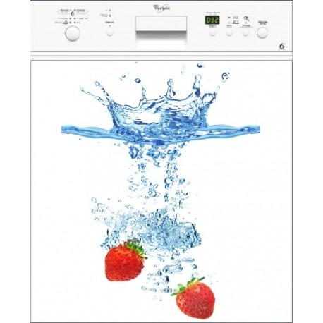 Sticker Lave Vaisselle Fraises - ou magnet lave vaisselle