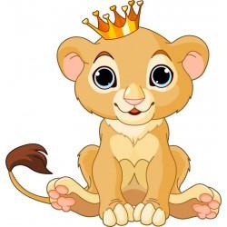 Stickers enfant Roi lionceau