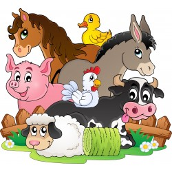 Stickers enfant Animaux de la ferme