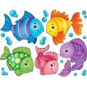 Stickers kit enfant planche de stickers Poissons