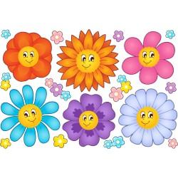 Stickers kit enfant planche de stickers Fleurs