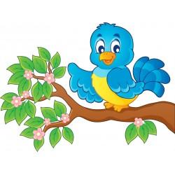 Stickers enfant Oiseau sur branche