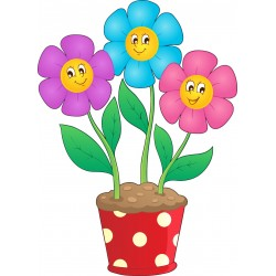 Stickers enfant Pot de fleurs