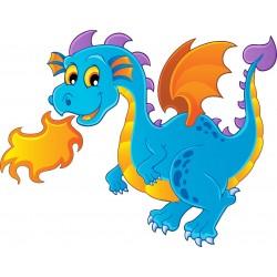 Stickers enfant Dragon feu