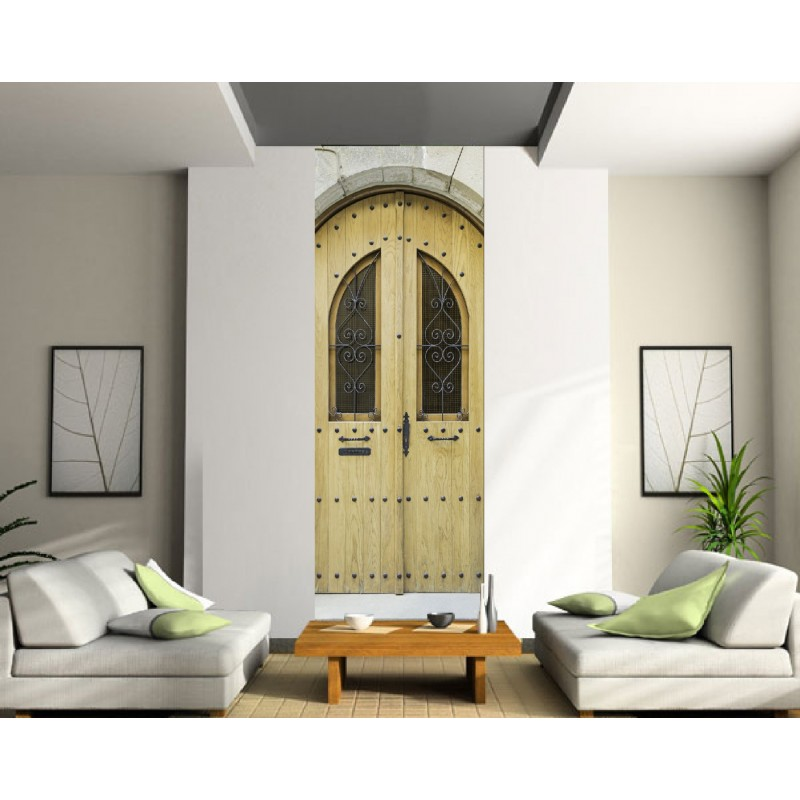 papier peint l unique porte d 39 entr e art d co stickers. Black Bedroom Furniture Sets. Home Design Ideas