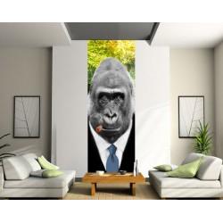 Papier peint l unique gorille tr s chic art d co stickers - Deco papier peint moderneidees tres creatives ...